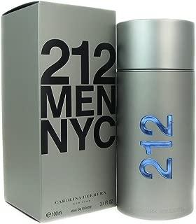 212 by Carolina Herrera for men Eau De Toilette 3.4 Ounce