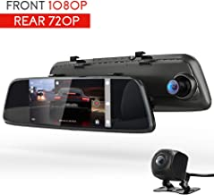 """COOAU Mirror Dual Night Vision Dash Cam, 7"""" 1080P Full HD Touch Screen Front and Rear Car Camera Recorder with Dual 170°Wide Angle, Parking Monitor, Motion Detection, G-Sensor, WDR, Loop Recording"""