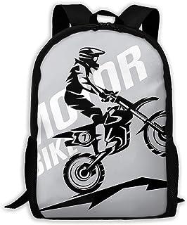Niñas Niños Bolso Motocross Estilizado Mochila de símbolos para la Escuela Colegio Bolsas para portátiles Mochila al Aire Libre