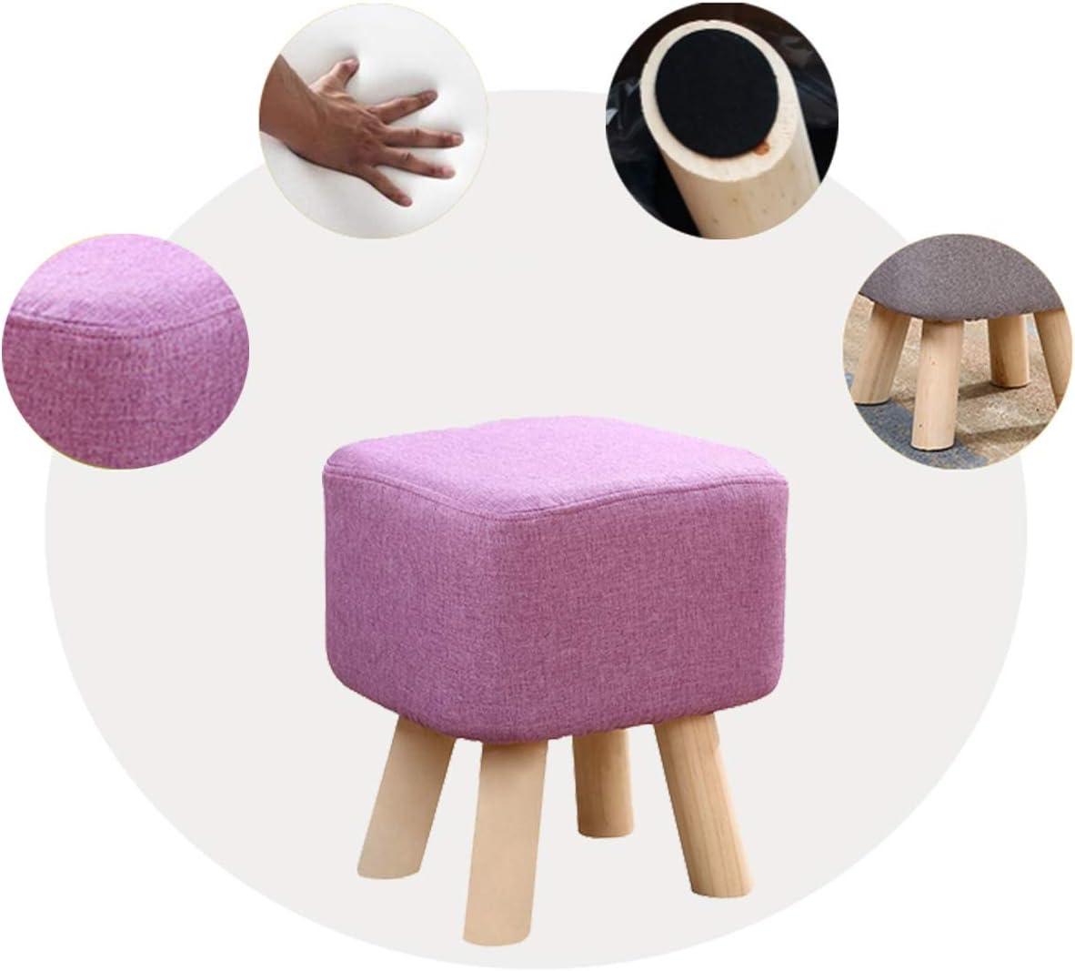MUYUNXI Creative Repose-Pieds, Carré Tissu Casual Tabouret, Siège Enfant, Quatre Options De Couleurs (Color : Matcha) Purple