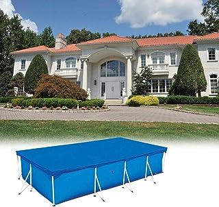 Cubiertas de piscina para piscinas elevadas- cubierta de piscina Cubierta contra polvo a prueba de lluvia Cubierta de piscina plegable para cubierta de piscina rectangular Piscinas de verano