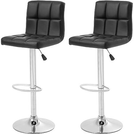Bar Stools Set Of 2 Counter Height Swivel Stool Pu Leather Modern Height Adjustable Swivel Barstools Hydraulic Chair Bar Stools Furniture Decor