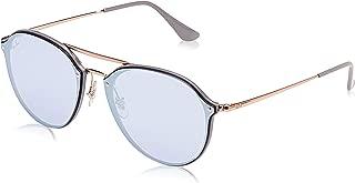 Ray-Ban 0rb4292n63261u62blaze Doublebridge Non-Polarized Iridium Square Sunglasses LIGHT GREY 62 mm