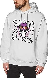 Mens Nico Robin Logo Hooded Sweatshirts Black