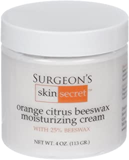 Surgeon's Skin Secret 25% Beeswax Cream 4 Oz Jar (Orange Citrus)