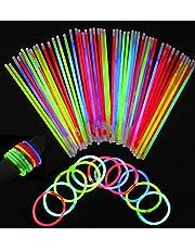 GS 100 st/pack glödpinnar rör, färgglatt upplyst armband för fest/sångarmottagare/barn/vuxna