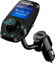 VICTSING Transmetteur FM Bluetooth Adaptateur Bluetooth Autoradio Kit Voiture Main-libre Sans Fil Adaptateur Radio avec Double Port USB 5V/ 2.1A et Port Audio 3,5mm(Noir)