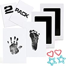 Scotamalone Baby Footprint Handprint Pet Paw Print Kit Ink Pads 2 Packs Non-Toxic Safe..