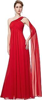 Vestido rojo para fiesta de noche largo, tirantes, palabra de honor