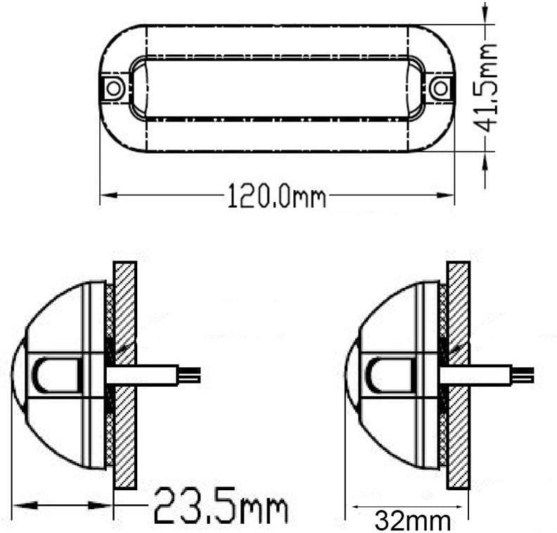 Feux de Poupe de P/êche avec C/âble de 1,5 m DC10V /Éclairage sous-marin de Ponton 32V /Éclairage Sous-marin pour Bateaux KKmoon 39 LED Lumi/ères Sous-marines de Bateau IP68