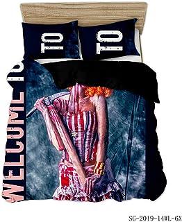 XLLJA sängkläder påslakan, 3D polyester bomull skada serie sängöverkast, sängöverdrag med kuddöverdrag, barnrum, super Kin...