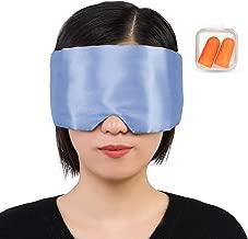 un Accessoire de Voyage indispensable Masque pour les Yeux Doux et Original Bandeau Noir et Argent/é Brod/é SIFANOO Masque de Nuit 100/% soie Masque de Sommeil pour Mieux Dormir