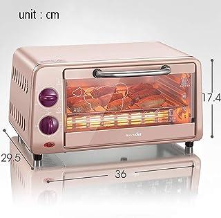 ZJJL Mini horno doméstico de 10L con ajuste de temperatura 0-230 ° C y 0-30Minning Miniatura 800W Horno multifunción con puerta de vidrio doble