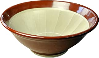 元重製陶所 石見焼 すり鉢 11号 (直径33cm) 赤茶色 スリバチ11チャ