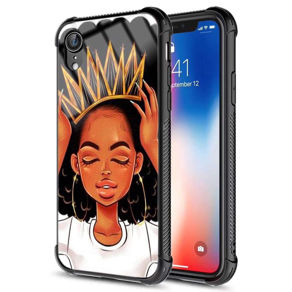 Xanaduc Iphone Xr Case African American Afro Girls Women Slim Fit Shockproof Bumper Cell Iphone Accessories Black Tempered Glass Protective Apple Iphone Xr Case 6 1inch Queen Girls Buy Online In Aruba At