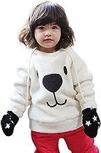 Pinklu Camisa Infantil Engrosamiento Oso Felpa Bebé SuéTer Grueso Abrigo De Dibujos Animados Oso NiñOs Infantil CáLido Polar Blusa Camiseta