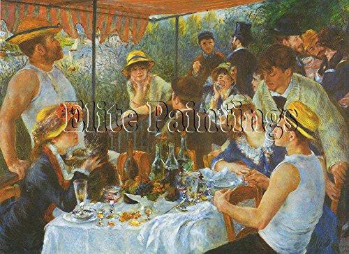 Elite-Paintings LUNCHEON BOATING PARTY RENOIR ARTISTA QUADRO DIPINTO OLIO SU TELA A MANO REPRO 90x120cm alta qualita