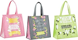 3 Religious Themed Inspirational Christian Tote Bags for Women | Matthew Verse, Thessalonians Verse, Ecclesiastes Verse Th...