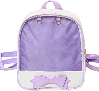 Girls Candy Backpack Purses with Bowknot Clear Ita Backpacks Bag for Teens