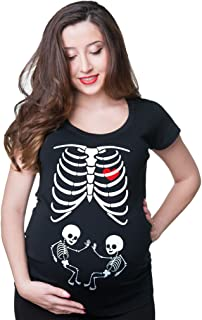 X-ray Maternity Twins t-Shirt Baby Shower Skeleton Twins