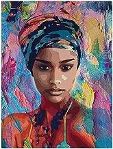 21 * 30cm Le yi Wang You Toile Peinture Femme Africaine Tableau Poster Mural Bureau Salon D/écoration 2 Toile