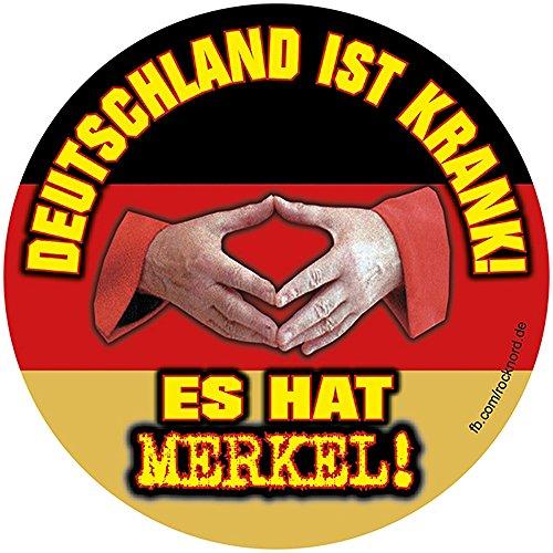Aufkleber / Sticker - Deutschland ist krank. Es hat MERKEL! (Sticker Set, 10 Stück)