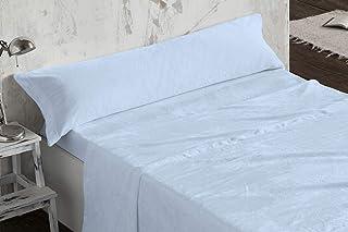 comprar comparacion Burrito Blanco - Juego de sábanas Coralina 953 Azul para Cama de 90x190/200 cm