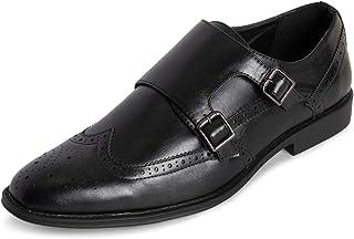 Hommes Queensberry George Cuir Formelle Travail Bureau Smart Sangle De Moine des Chaussures