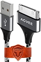 Agvee Nylon Braided Fast [4 Pack 3ft] Heavy Duty USB A to 30 Pin Sync & Charging..