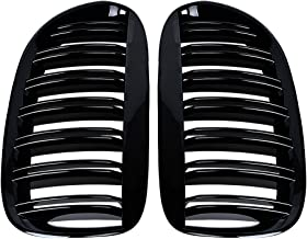 9 Grilles Longzhimei Fit for BMW 7 series 740i 740Li 750i 760i 2014-2015 M-Colored Front Grille Insert Trim Strips Grill Cover 3Pcs