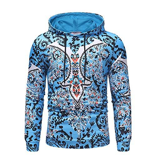 SFYZY Herren Langarm Print Hoodie Kapuzenpullover Tops Mantel Outwear Sweatshirt Kapuzenpullover Sport Polo Rippenpullover Herrenmode Sport Sport Top Bluse Hip Hop Sweatshirt