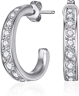 MESTIGE Matilda Earrings with Crystals from Swarovski, Gifts Women Girls, Classic Hoop