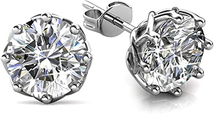 KRYSTAL COUTURE Beatrice Spark Earrings Featuring Crystals From Swarovski Clear Crystals 18K White Gold Plated Unique Jewellery for Women