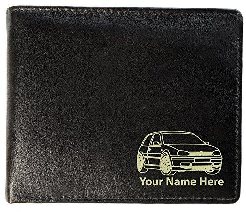 Brieftasche Leder, Motiv: VW Golf Mk4 GTI, personalisierbar, Toskana-Stil
