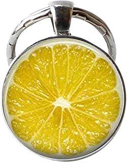 HE PING - Portachiavi a forma di fetta di limone, portachiavi a forma di frutta