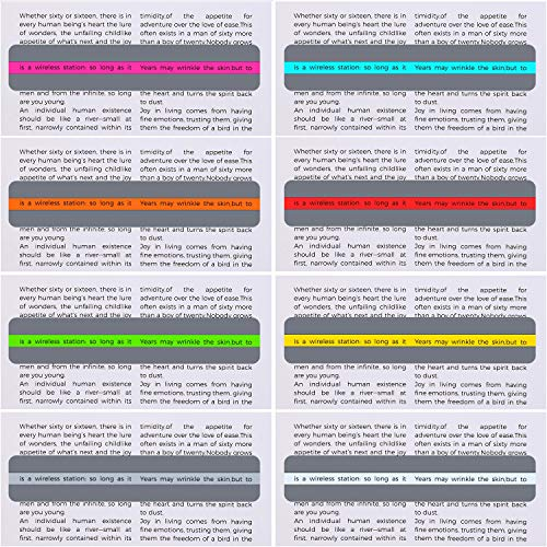 16 Pieces Guided Reading Highlight Strips Colored Overlay Reading Tracking Rulers for Dyslexia, ADHD and to Reduce Visual Stress(8 Standard Size and 8 Large Size) Photo #7