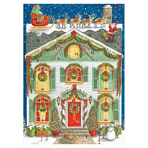 Caspari Home - Biglietti d'auguri per calendario dell'avvento di Natale, 1 biglietto e busta