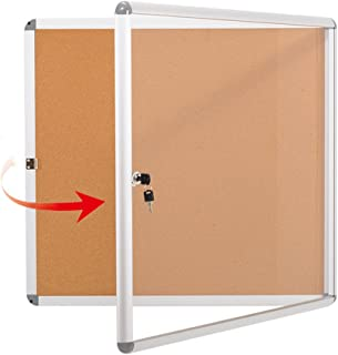Swansea Enclosed Noticeboard Bulletin Cork Boards Case Tamperproof with Mounting Screws 28×26 inch (6xA4)