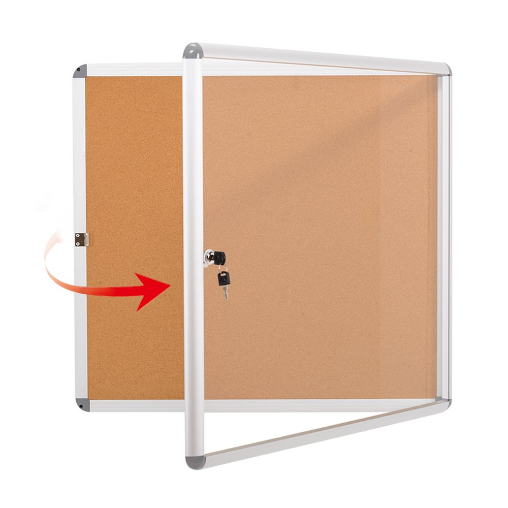 Enclosed Noticeboard Bulletin Tamperproof Mounting
