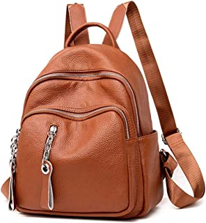 XHHWZB Soft Leather Backpack - Female Korean Fashion Casual Wild Student Bag Women's Backpack Female