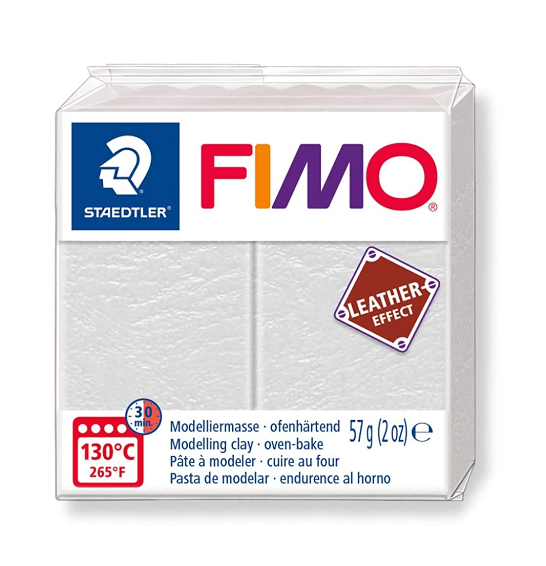 STAEDTLER 8010-029 ST FIMO Leather-Effect Oven-Hardening Modelling Clay for Creative Objects Leather Look Leather Look and Feel Ivory Colour 8010-29