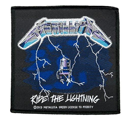 Unbekannt Metallica Aufnäher - Ride The Lightning - Metallica Patch - Gewebt & Lizenziert !!