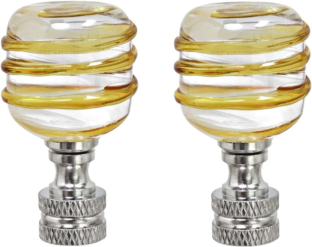 2021 model Unknown1 2 Pack Clear with Yellow Line Nick Lamp in Glass Finial New mail order