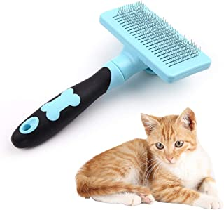 HATELI Pet Self Cleaning Slicker Brush for Cat & Dog Grooming Brushes for Shedding,Automatic Deshedding Tool for Shedding Long and Short Fur