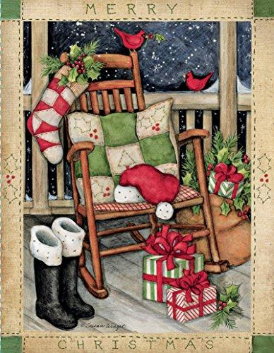 """LANG -""""Santa's Rocker"""", Boxed Christmas Cards, Artwork by Susan Winget"""" - 18 Cards, 19 envelopes - 5.375"""" x 6.875"""""""