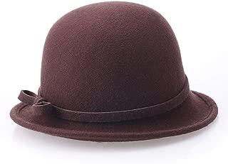 ZiWen Lu New Irregular hat 檐 Ladies hat hat Pure Wool Wool hat (Color : Brown)