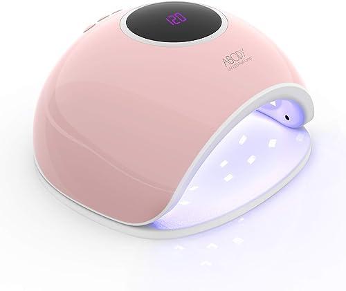 Abody Lampe UV Sèche Ongles, 168W Séchoir à Ongles Professionnel avec Capteur Automatique, LCD Ecran, 5 Minuteries 10...