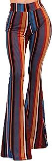 Women's USA Boho Solid Hippie Wide Leg Flared Bell Bottom...
