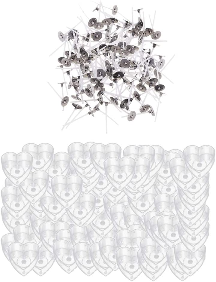 Kloware 100pcs Clear Tealight Factory outlet Cup Heart Mold Wax DIY Shaping for Very popular