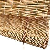 QL Persianas Blackout Roller Shades Persiana Enrollable de bambú Persiana para Sala de Estar Comedor/Dormitorio y más